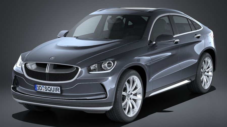SUV Coupe Luxury 2017 royalty-free 3d model - Preview no. 1