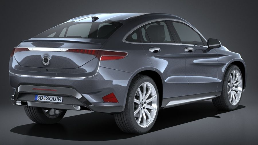 SUV Coupe Luxury 2017 royalty-free 3d model - Preview no. 6