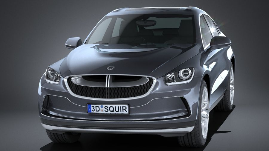 SUV Coupe Luxury 2017 royalty-free 3d model - Preview no. 2