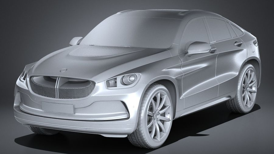 SUV Coupe Luxury 2017 royalty-free 3d model - Preview no. 9