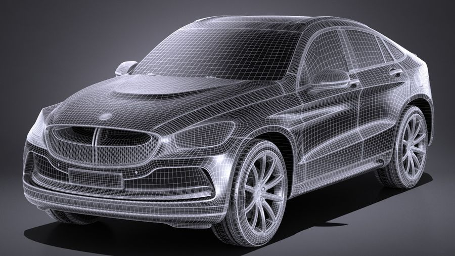 SUV Coupe Luxury 2017 royalty-free 3d model - Preview no. 13