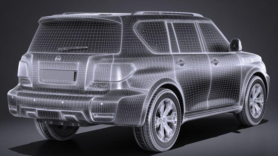 Nissan Armada 2017 royalty-free 3d model - Preview no. 14