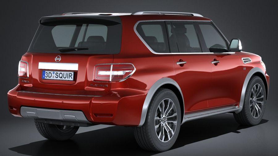 Nissan Armada 2017 royalty-free 3d model - Preview no. 6