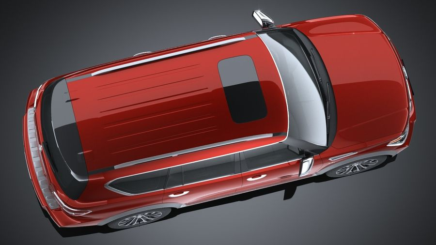 Nissan Armada 2017 royalty-free 3d model - Preview no. 8