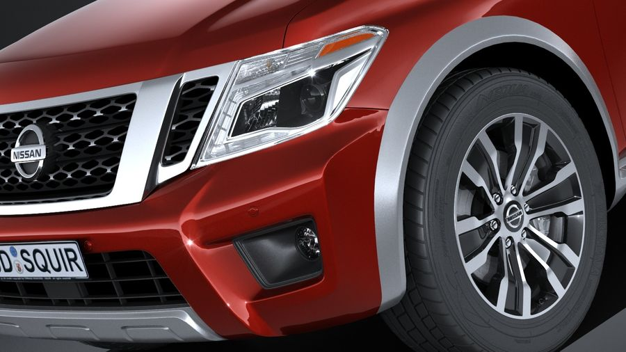 Nissan Armada 2017 royalty-free 3d model - Preview no. 3