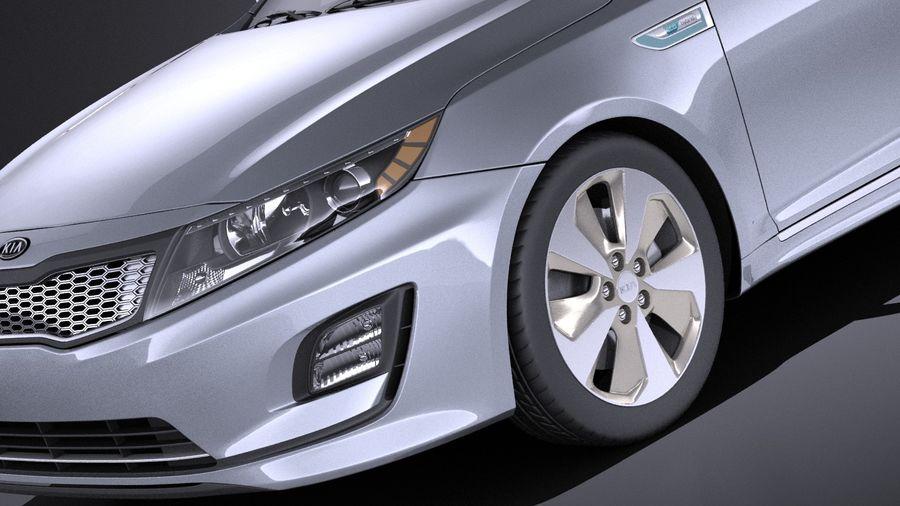 Kia Optima Hybrid 2016 VRAY royalty-free 3d model - Preview no. 3