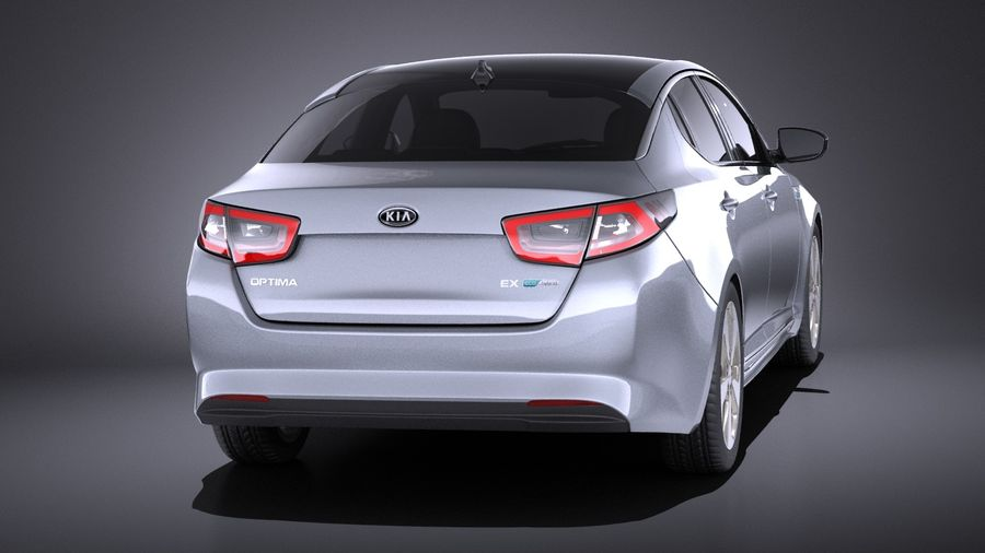 Kia Optima Hybrid 2016 VRAY royalty-free 3d model - Preview no. 5