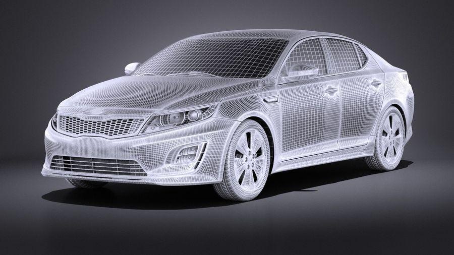Kia Optima Hybrid 2016 VRAY royalty-free 3d model - Preview no. 13