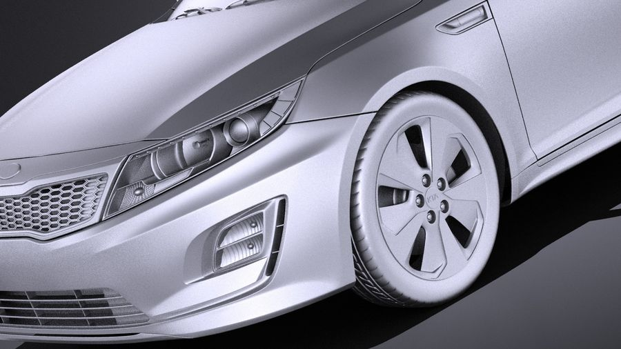 Kia Optima Hybrid 2016 VRAY royalty-free 3d model - Preview no. 10