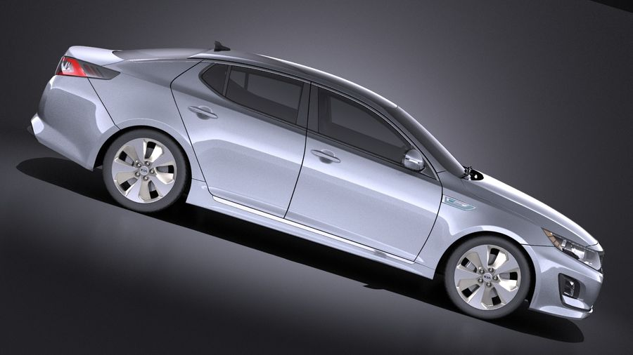 Kia Optima Hybrid 2016 VRAY royalty-free 3d model - Preview no. 7