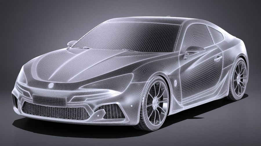 Generic Coupe GT 2017 royalty-free 3d model - Preview no. 13