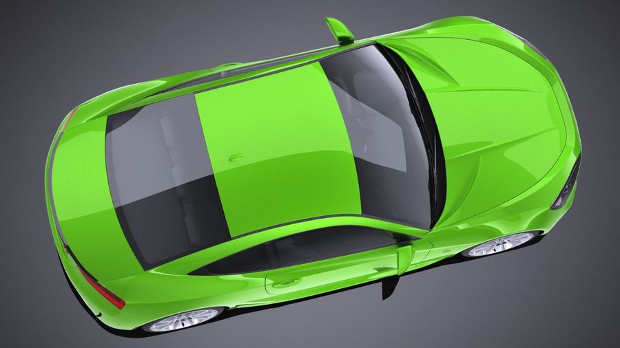 Generic Coupe GT 2017 royalty-free 3d model - Preview no. 8