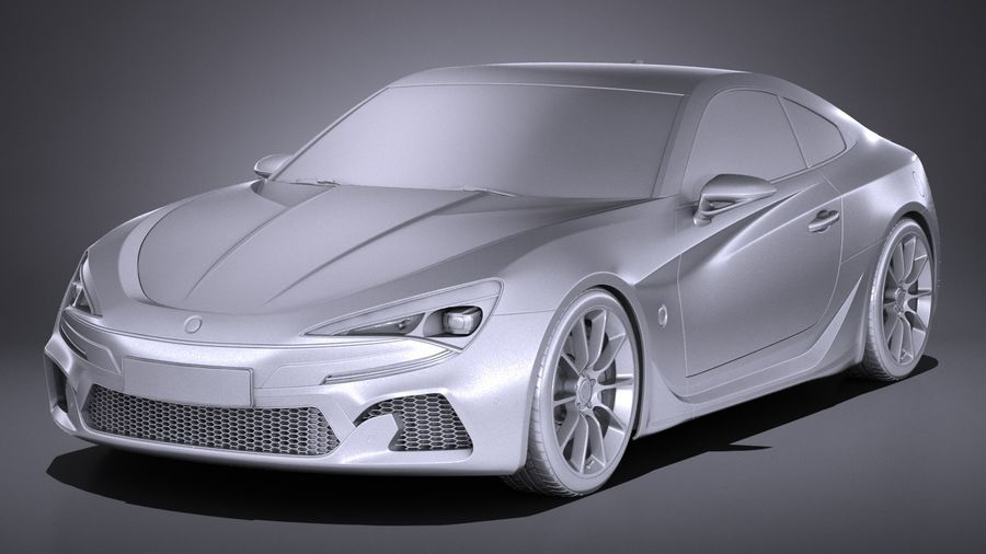 Generic Coupe GT 2017 royalty-free 3d model - Preview no. 9