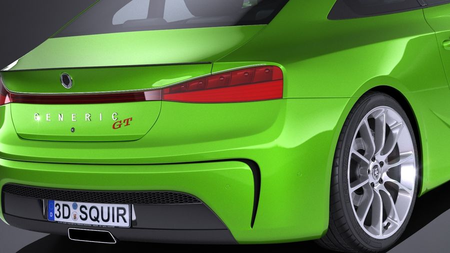 Generic Coupe GT 2017 royalty-free 3d model - Preview no. 4
