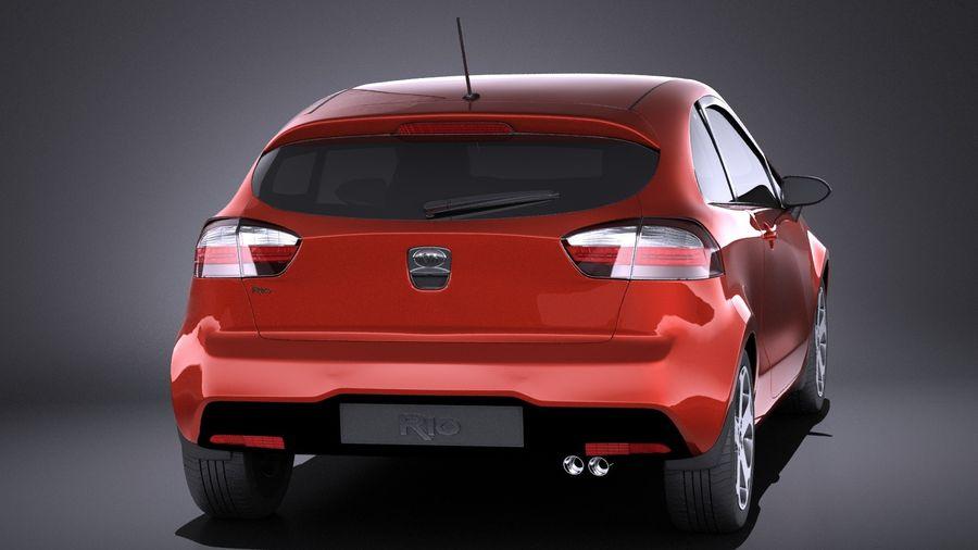 Kia Rio 3-drzwiowy Hatchback 2014 VRAY royalty-free 3d model - Preview no. 5