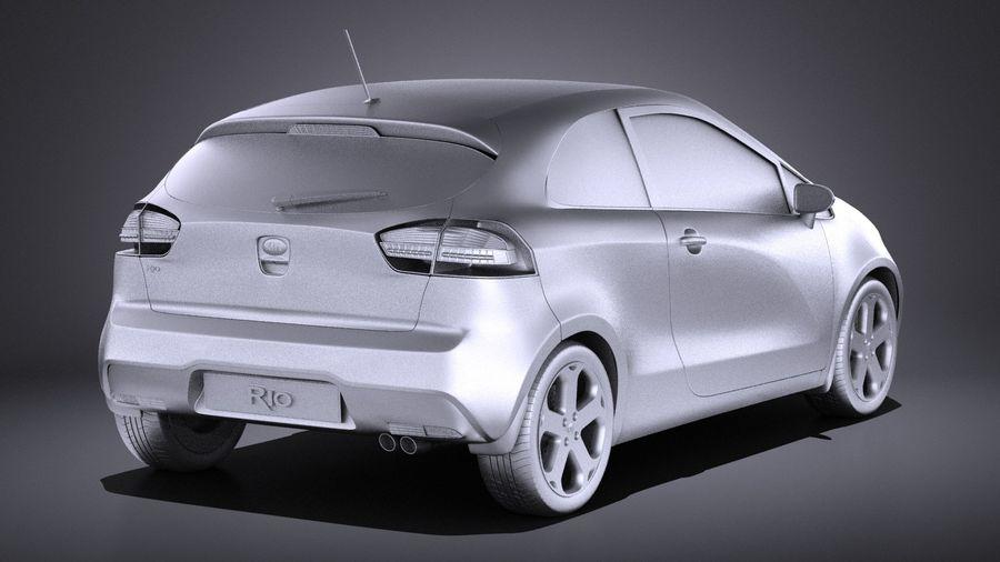 Kia Rio 3-drzwiowy Hatchback 2014 VRAY royalty-free 3d model - Preview no. 12