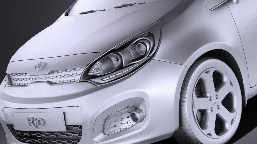 Kia Rio 3-drzwiowy Hatchback 2014 VRAY royalty-free 3d model - Preview no. 10