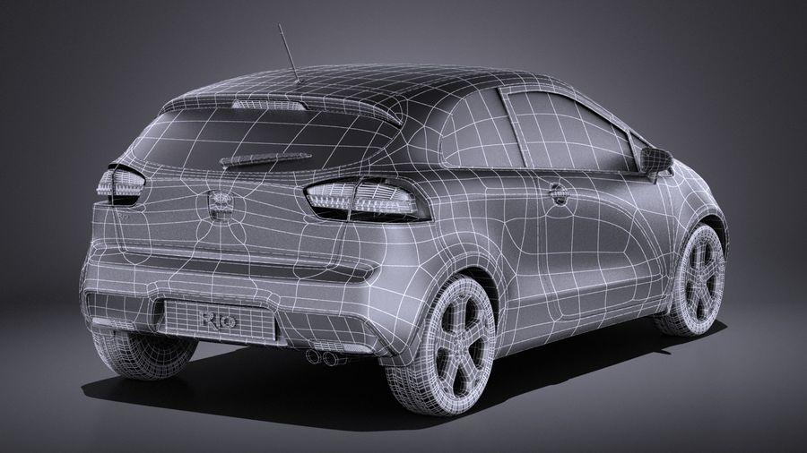 Kia Rio 3-drzwiowy Hatchback 2014 VRAY royalty-free 3d model - Preview no. 16