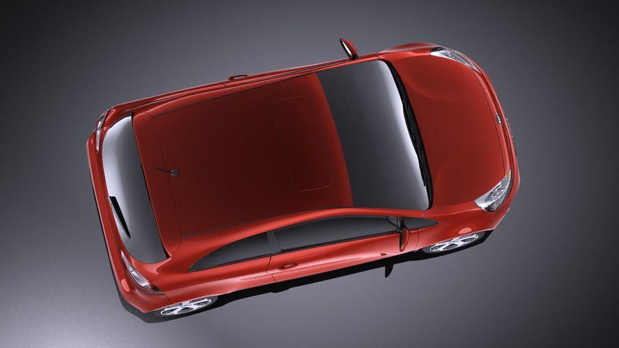 Kia Rio 3-drzwiowy Hatchback 2014 VRAY royalty-free 3d model - Preview no. 8
