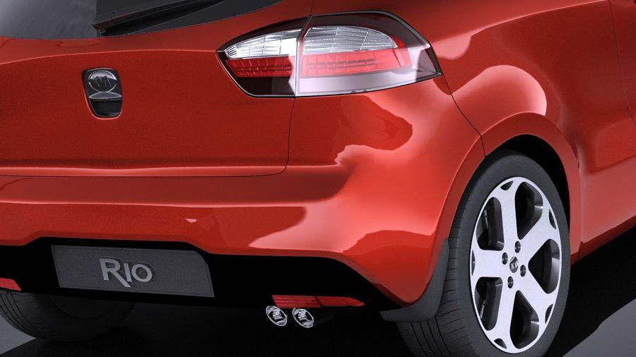 Kia Rio 3-drzwiowy Hatchback 2014 VRAY royalty-free 3d model - Preview no. 4