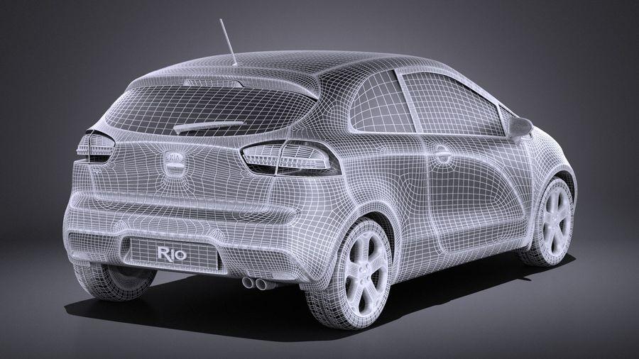 Kia Rio 3-drzwiowy Hatchback 2014 VRAY royalty-free 3d model - Preview no. 14