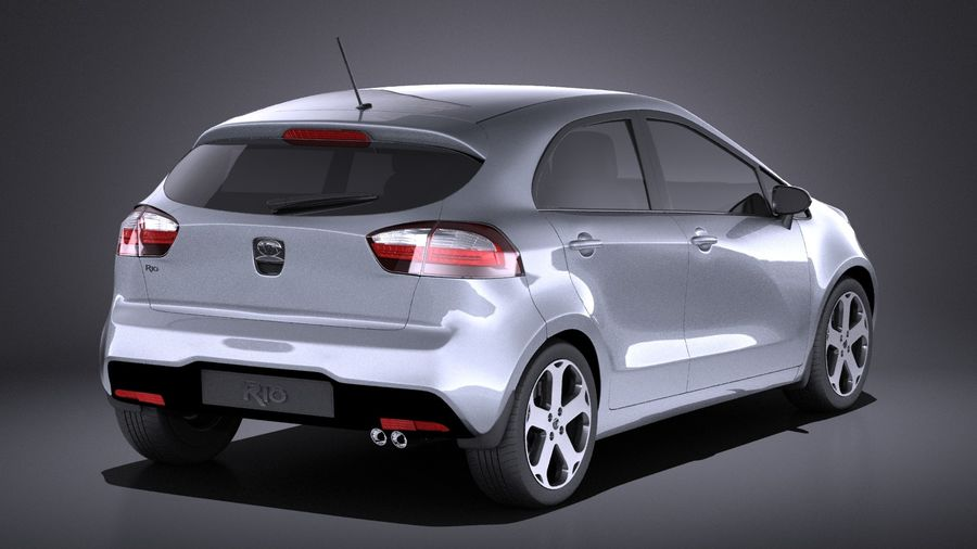 Kia Rio 2014 5 kapılı VRAY royalty-free 3d model - Preview no. 6