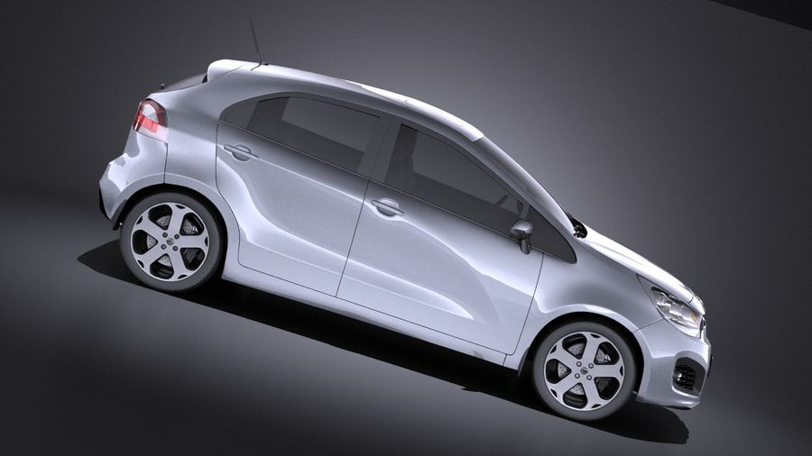 Kia Rio 2014 5door VRAY royalty-free 3d model - Preview no. 7