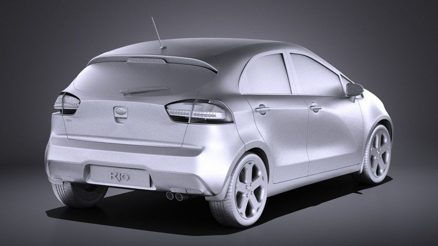 Kia Rio 2014 5 kapılı VRAY royalty-free 3d model - Preview no. 12