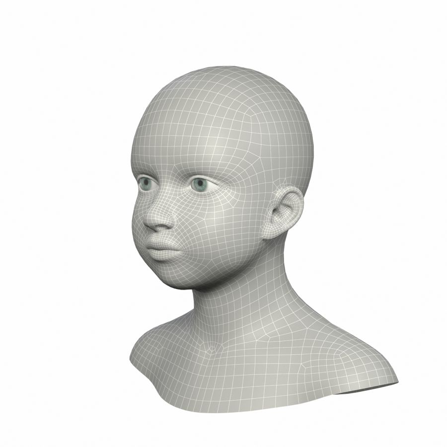 Tête royalty-free 3d model - Preview no. 9