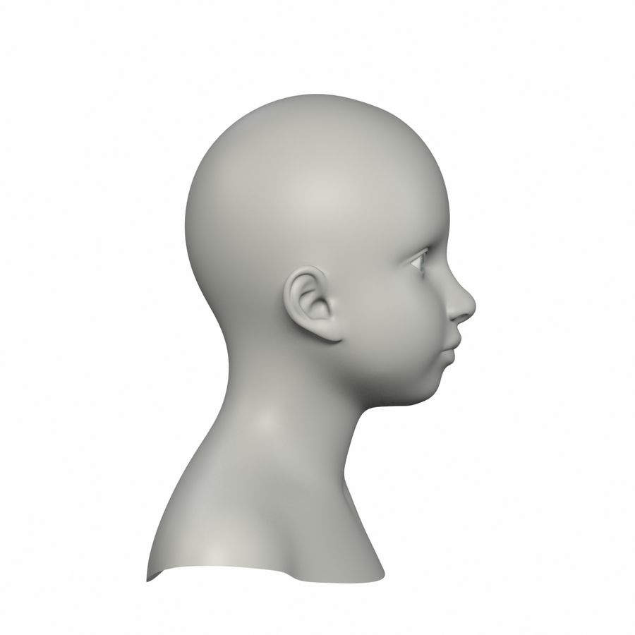 Голова royalty-free 3d model - Preview no. 3