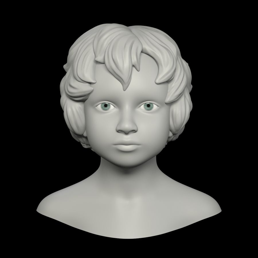 Голова royalty-free 3d model - Preview no. 8