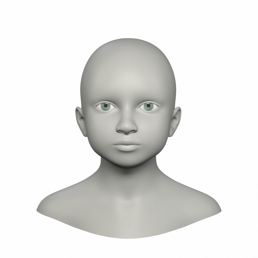 Tête royalty-free 3d model - Preview no. 1