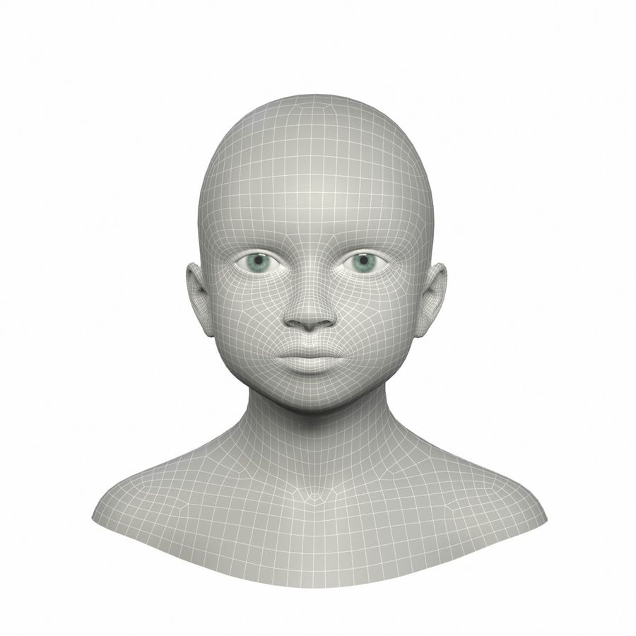 Голова royalty-free 3d model - Preview no. 10
