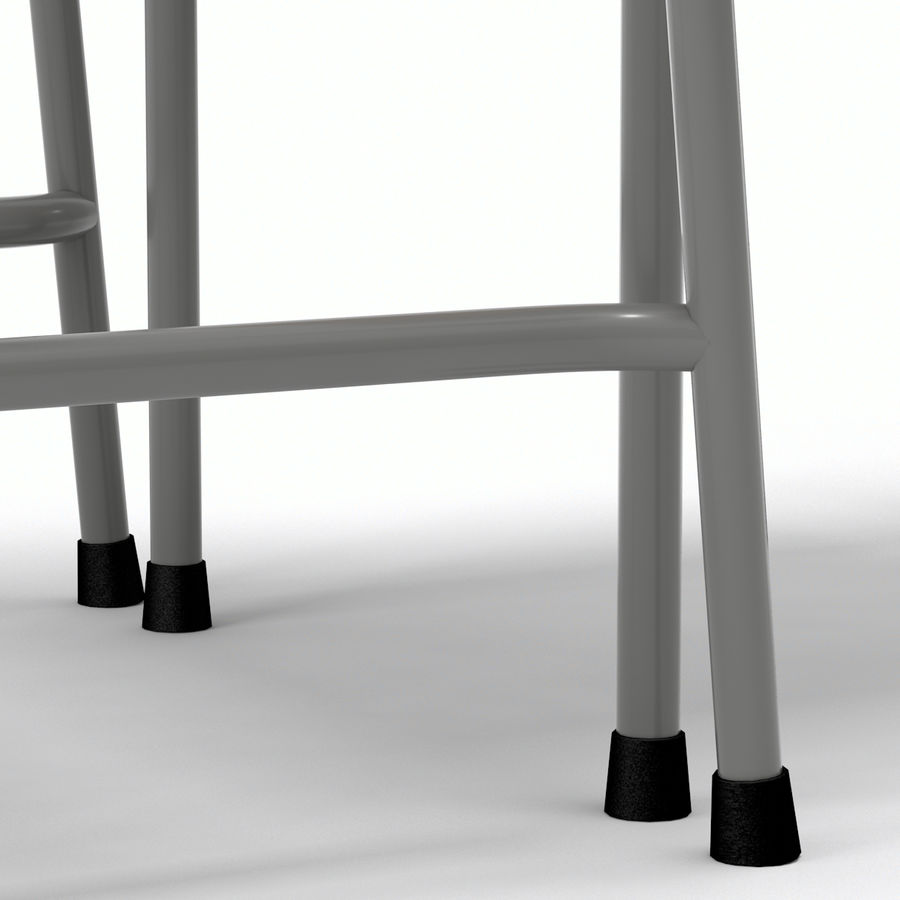 School Desk and Chair V2 royalty-free 3d model - Preview no. 15