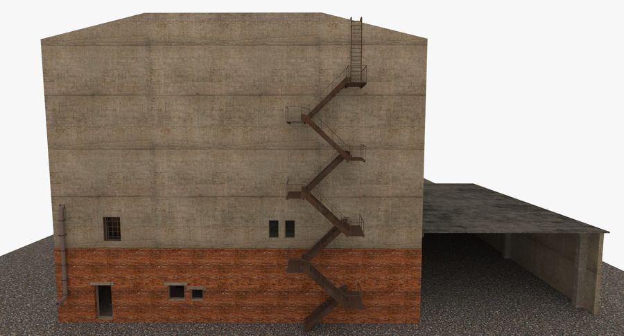 Opuszczony budynek przemysłowy royalty-free 3d model - Preview no. 16