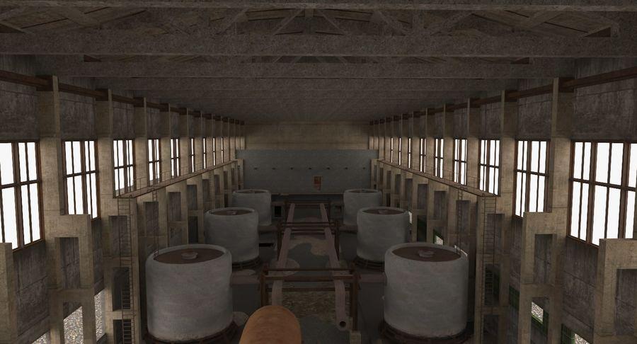 Opuszczony budynek przemysłowy royalty-free 3d model - Preview no. 6