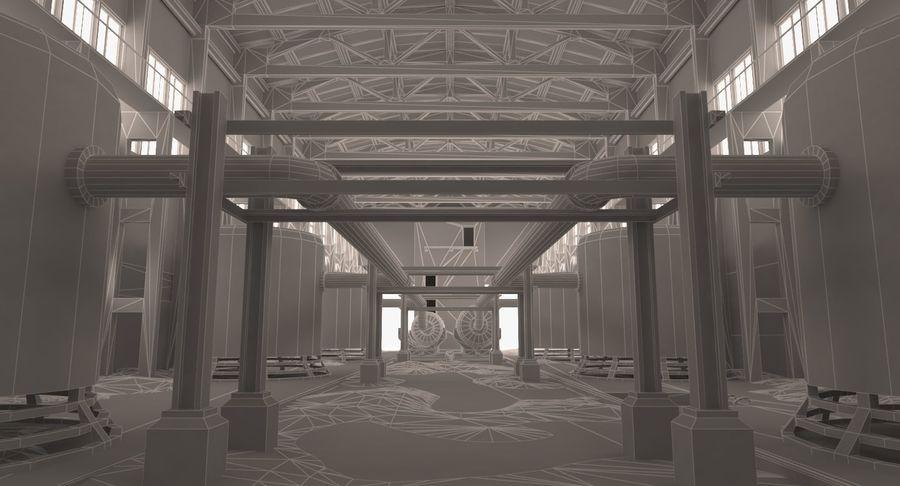 Opuszczony budynek przemysłowy royalty-free 3d model - Preview no. 5