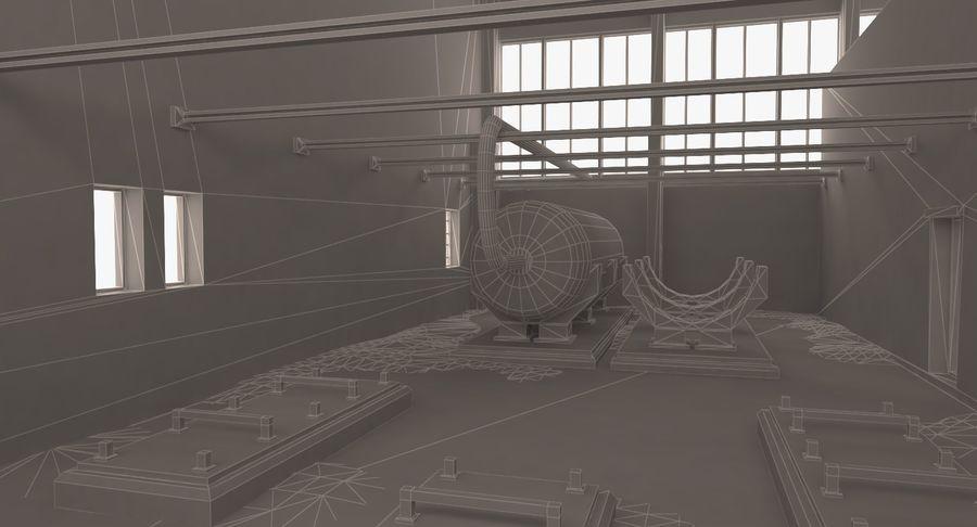 Opuszczony budynek przemysłowy royalty-free 3d model - Preview no. 13