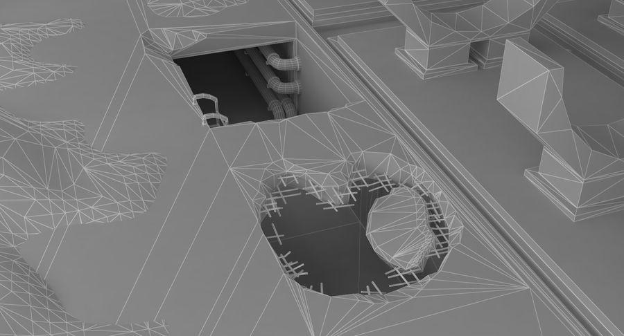 Opuszczony budynek przemysłowy royalty-free 3d model - Preview no. 25