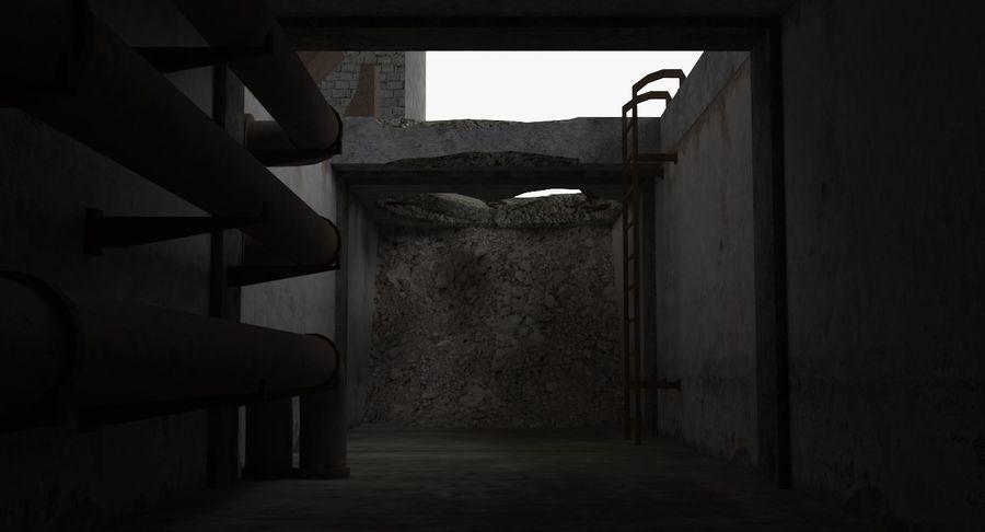 Opuszczony budynek przemysłowy royalty-free 3d model - Preview no. 26