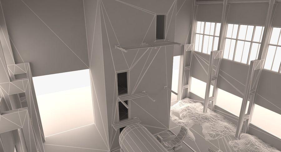 Opuszczony budynek przemysłowy royalty-free 3d model - Preview no. 9