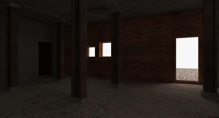 Opuszczony budynek przemysłowy royalty-free 3d model - Preview no. 14