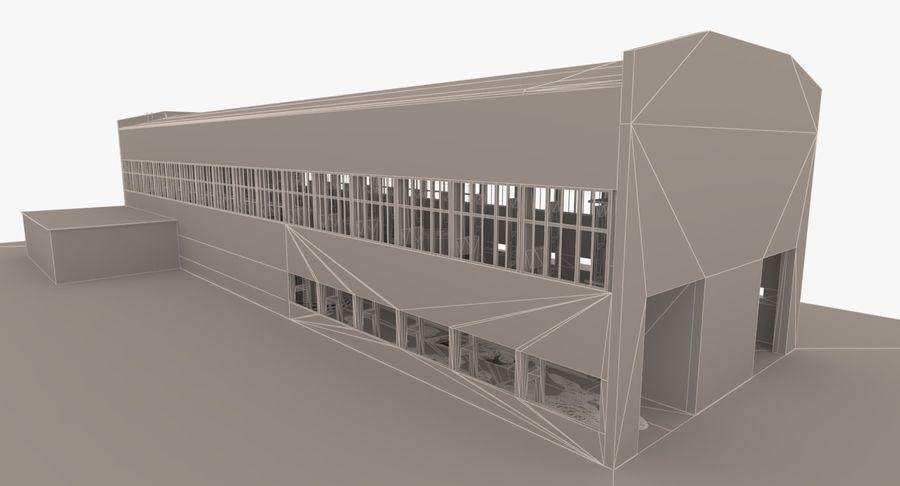 Opuszczony budynek przemysłowy royalty-free 3d model - Preview no. 23