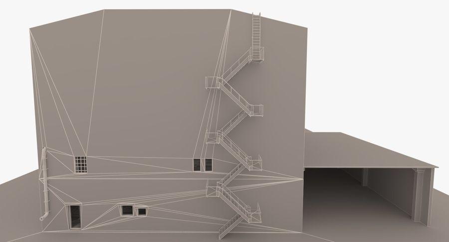 Opuszczony budynek przemysłowy royalty-free 3d model - Preview no. 17