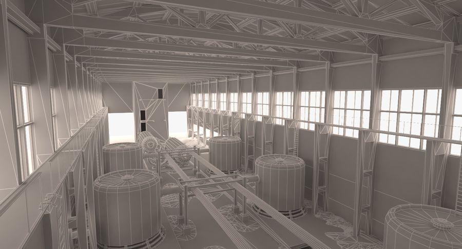 Opuszczony budynek przemysłowy royalty-free 3d model - Preview no. 3