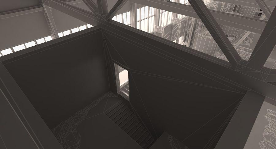 Opuszczony budynek przemysłowy royalty-free 3d model - Preview no. 11