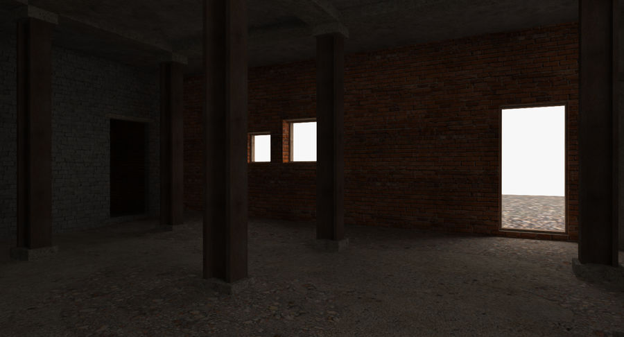Abandoned Industrial Building royalty-free 3d model - Preview no. 14