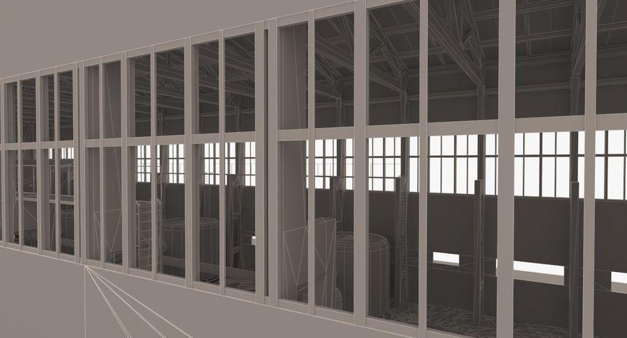 Opuszczony budynek przemysłowy royalty-free 3d model - Preview no. 19