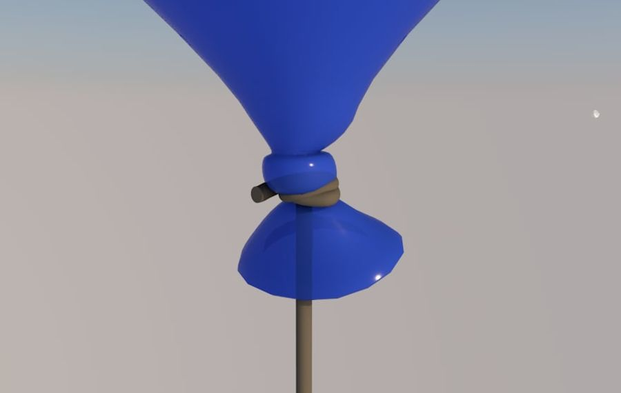 balon royalty-free 3d model - Preview no. 2