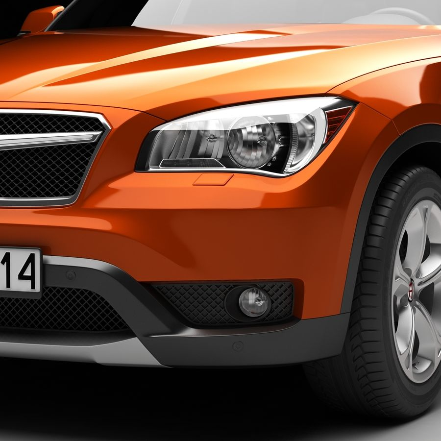 SUV auto royalty-free 3d model - Preview no. 10